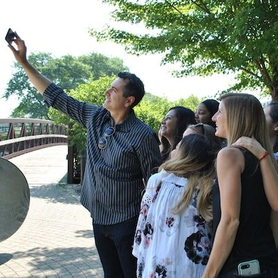 Dr. Katris taking a selfie with our team of experts