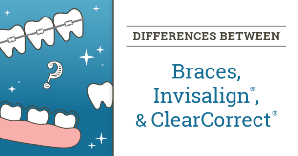 Differences Between Braces, Invisalign, & ClearCorrect